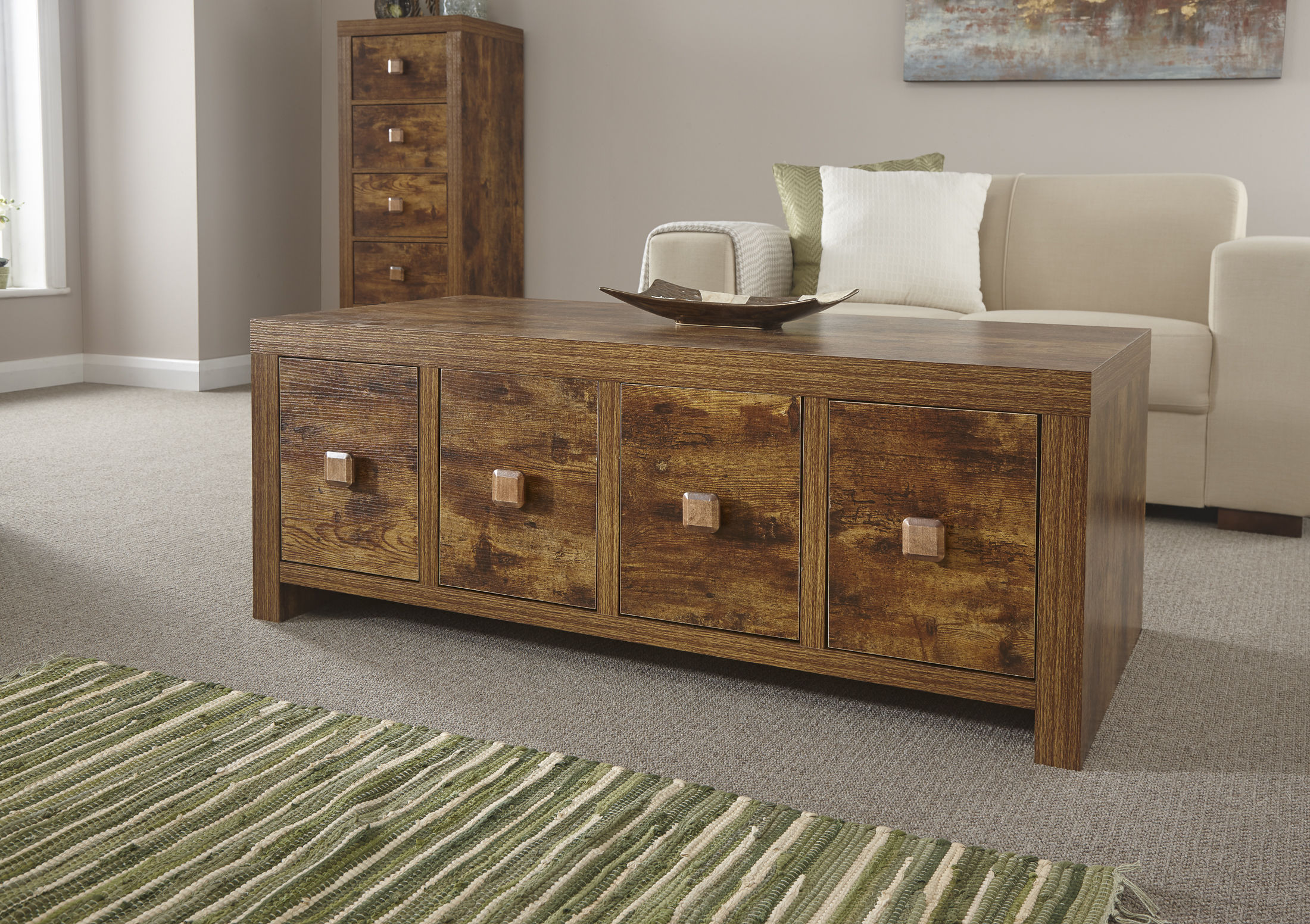 jakarta mango wood living room furniture 8 drawer coffee table uk