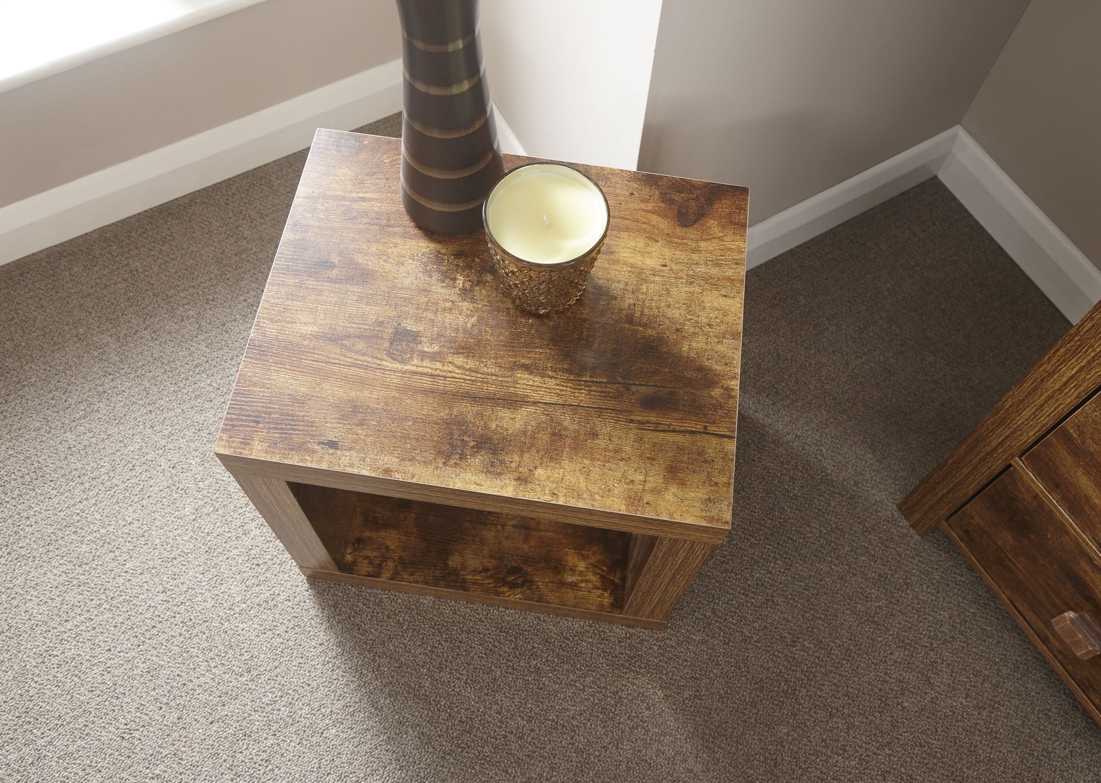 Jakarta Mango Wood Living Room Cube Coffee Table Furniture UK Free