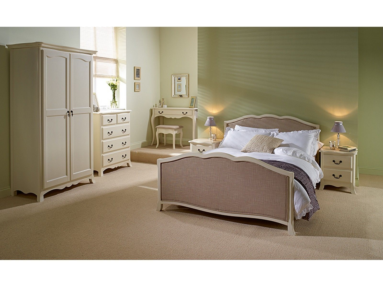 Brand new chantilly antique white french style bedroom - French style bedroom furniture sets ...