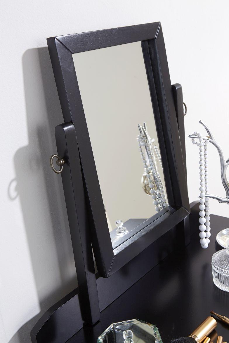 Shaker dressing table set black adjustable mirror bedroom for Mirror 40cm wide