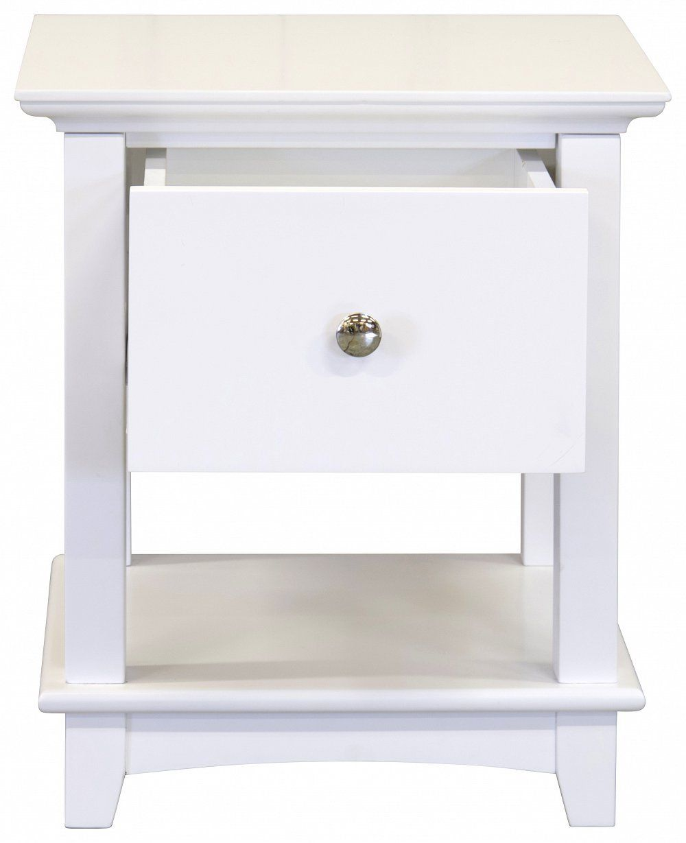 Toulouse White French Style Bedside Cabinet Lamp Stand