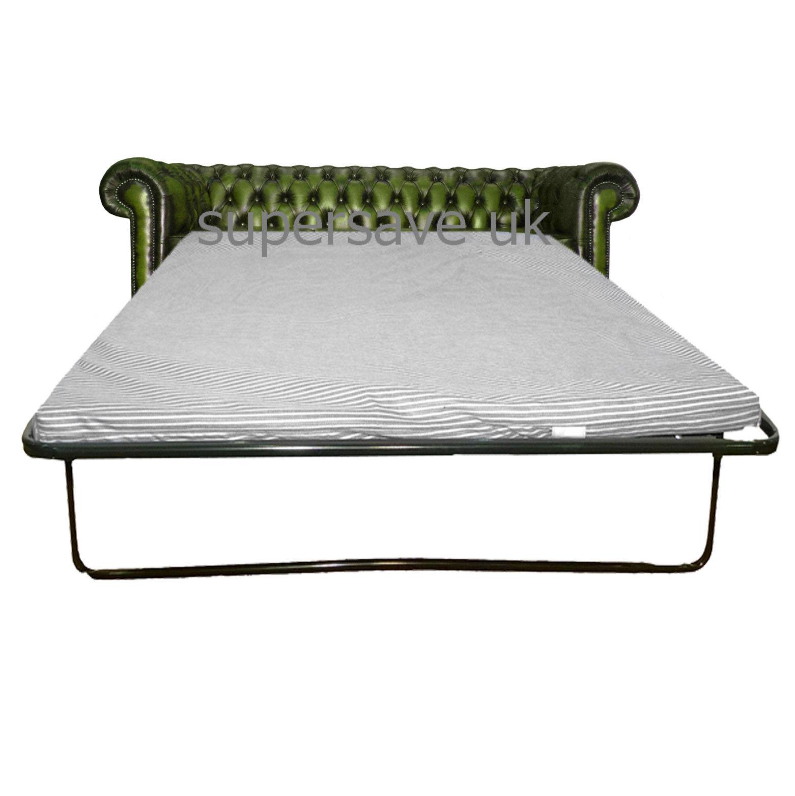 Chesterfield 100 vera pelle verde antico tre posti divano - Divano letto a tre posti ...