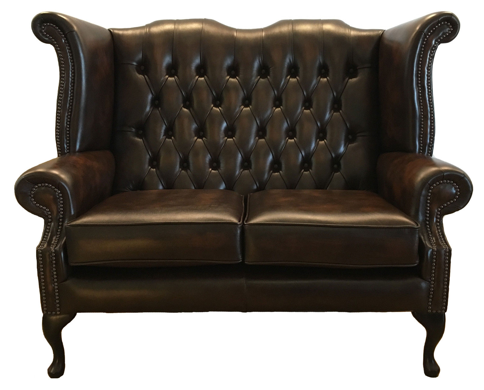 sofa queen antique queen anne leather chesterfield sofa. Black Bedroom Furniture Sets. Home Design Ideas