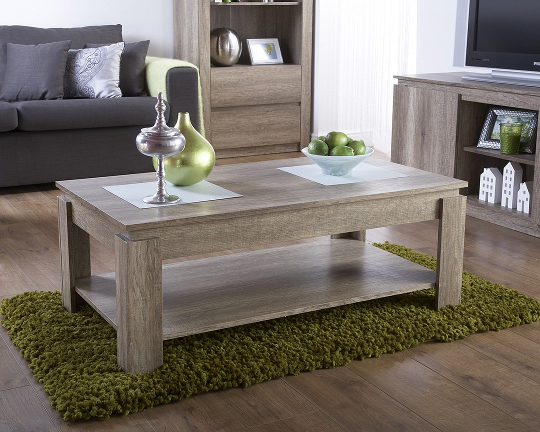 Canyon Oak Modern Design Coffee Table