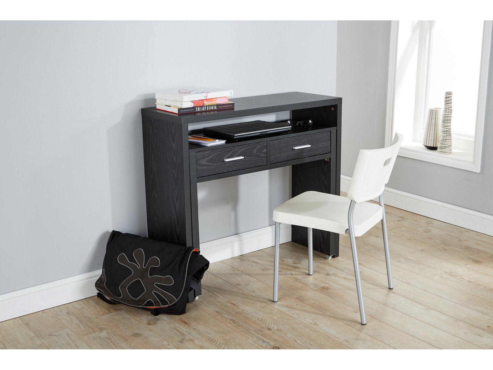Regis Extending Black Console Dresser Office Computer