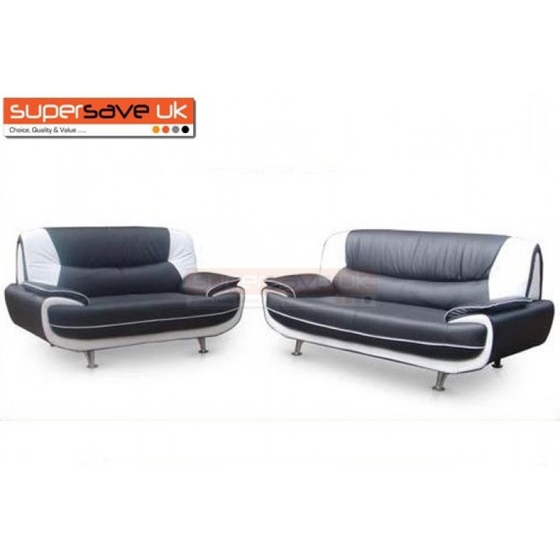 Enjoyable Lewis 3 2 Seater Sofa Set Two Piece Suite Black White Faux Leather Pdpeps Interior Chair Design Pdpepsorg
