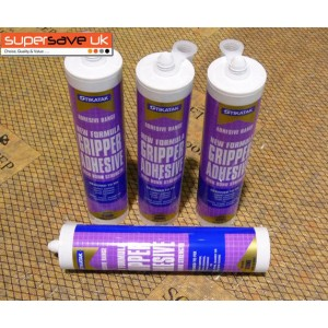 4x Stikatak Carpet Gripper Adhesive Glue High Bond Strength 350ml