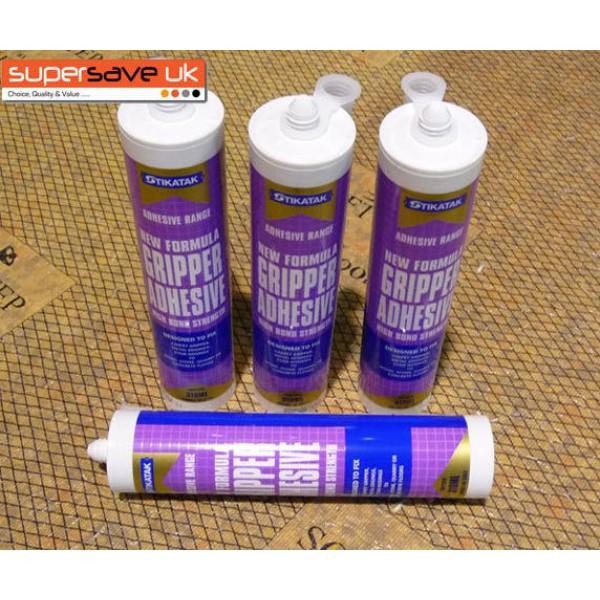 4x Stikatak Carpet Gripper Adhesive Glue High Bond Strength 350ml