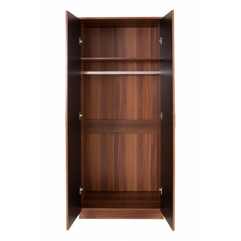 Ottawa black high gloss and walnut veneer three piece - Walnut bedroom furniture sets uk ...