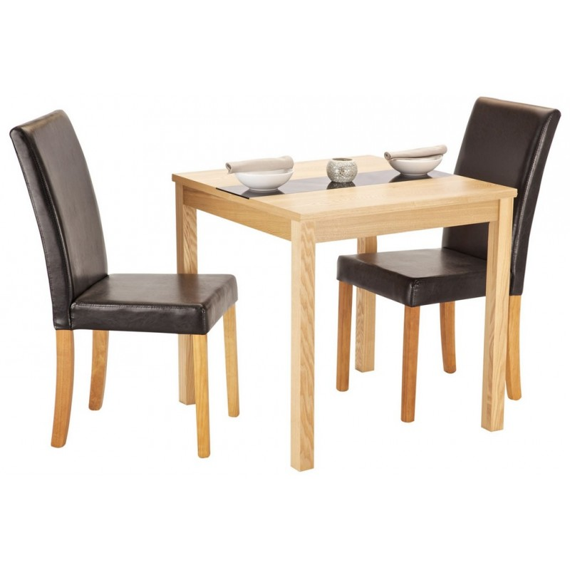 Ashleigh ash veneer small dining set with 2 chairs for Ashleigh dining set