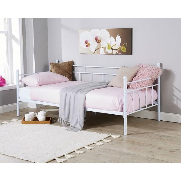 Arizona 3ft Single Metal Day Bed White