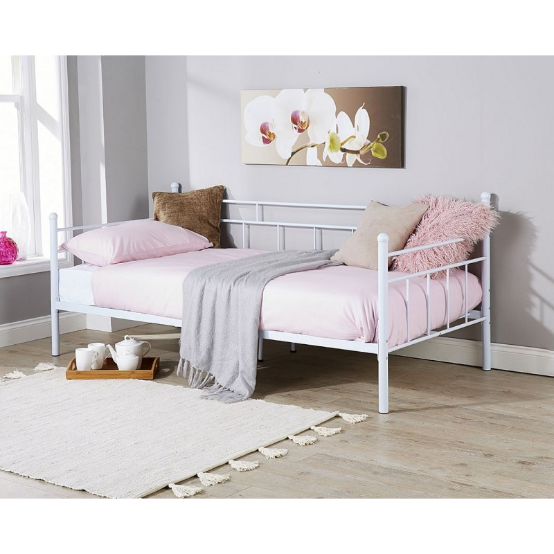 arizona 3ft single day bed metal frame. Black Bedroom Furniture Sets. Home Design Ideas