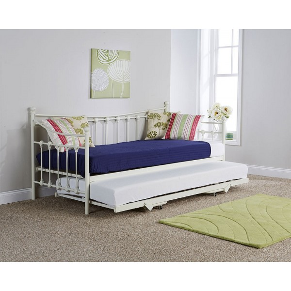 Memphis Single Day Bed With Trundle Available In 2 Colours