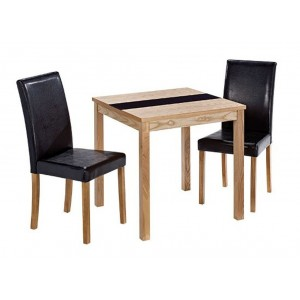Ashleigh Ash Veneer Small Dining Set With 2 Chairs