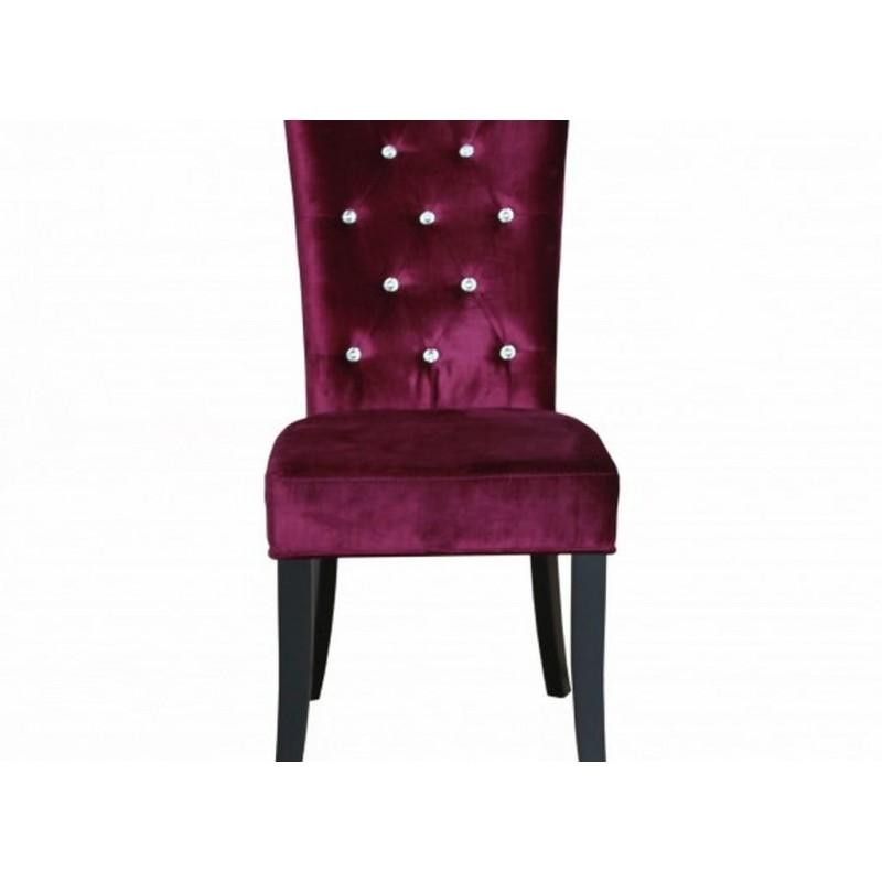radiance set of 2 diamante dining chair in purple velvet. Black Bedroom Furniture Sets. Home Design Ideas