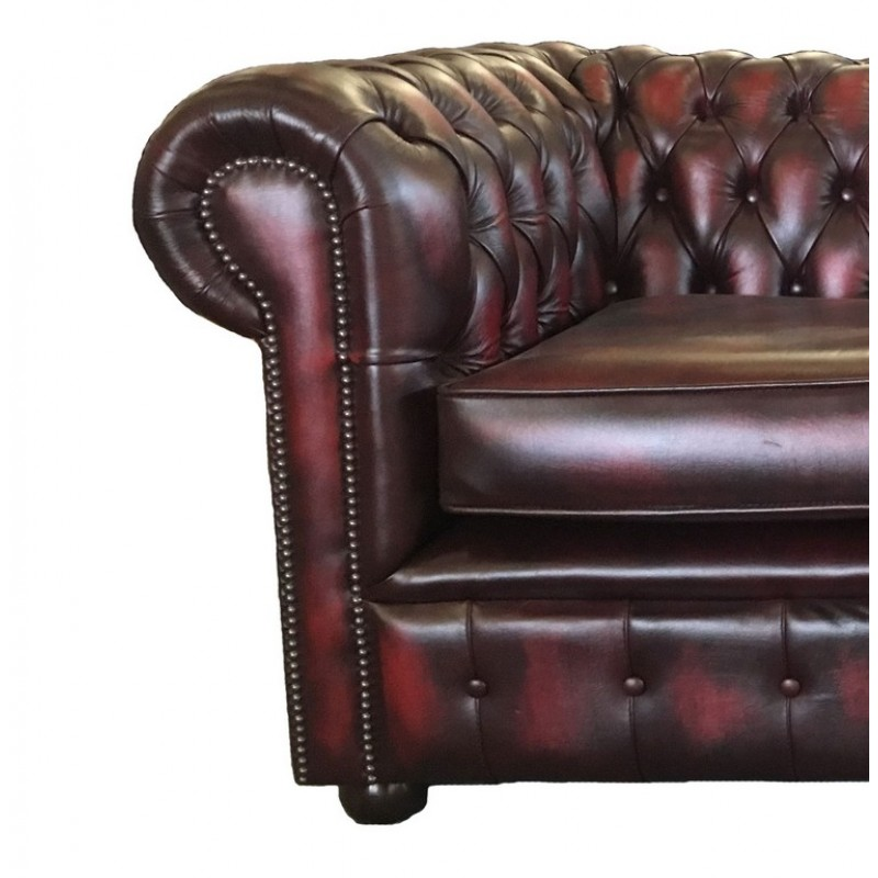 Chesterfield Oxblood Red Real Leather 2 Seater Sofa Bed : chesterfield two seater sofa red 03 800x800 from www.supersaveuk.com size 800 x 800 jpeg 89kB