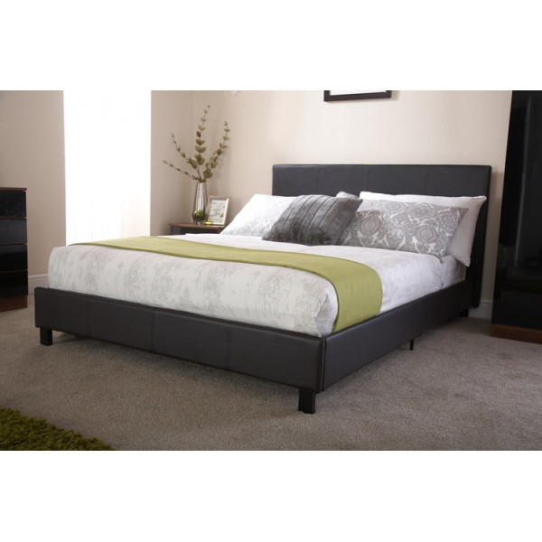 Berlin Black Faux Leather Bed Frame