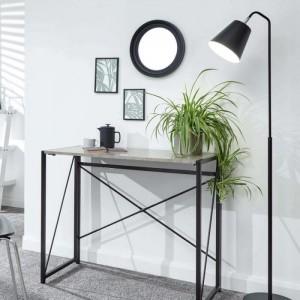 Bramwell Folding Desk Concrete Space Saver
