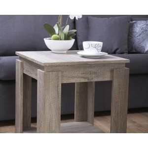 Canyon Oak 3D Effect Lamp Table with Undershelf