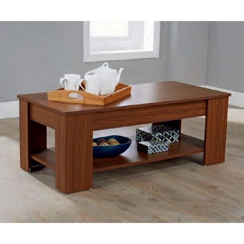 Lift Up Storage Coffee Table Walnut Finish