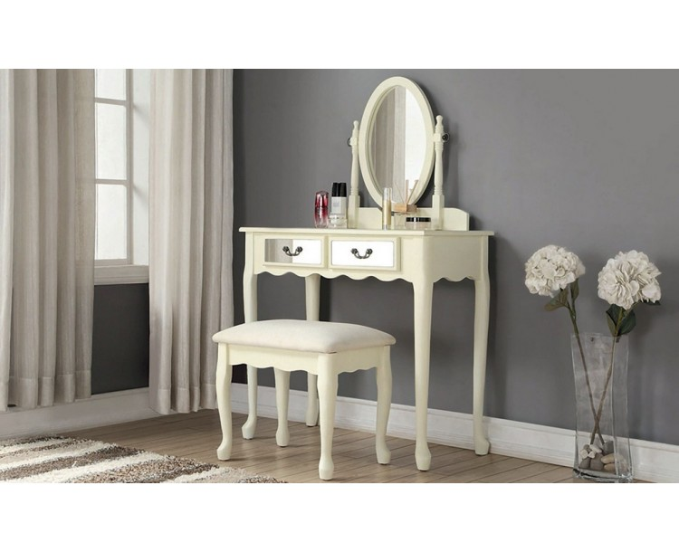 Stunning Mirrored Dressing Table in Ivory