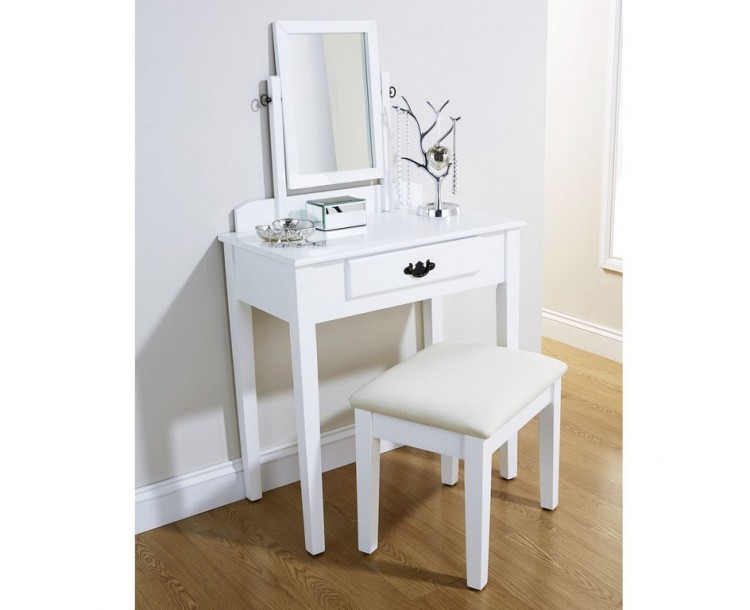 Simple Shaker Dressing Table White
