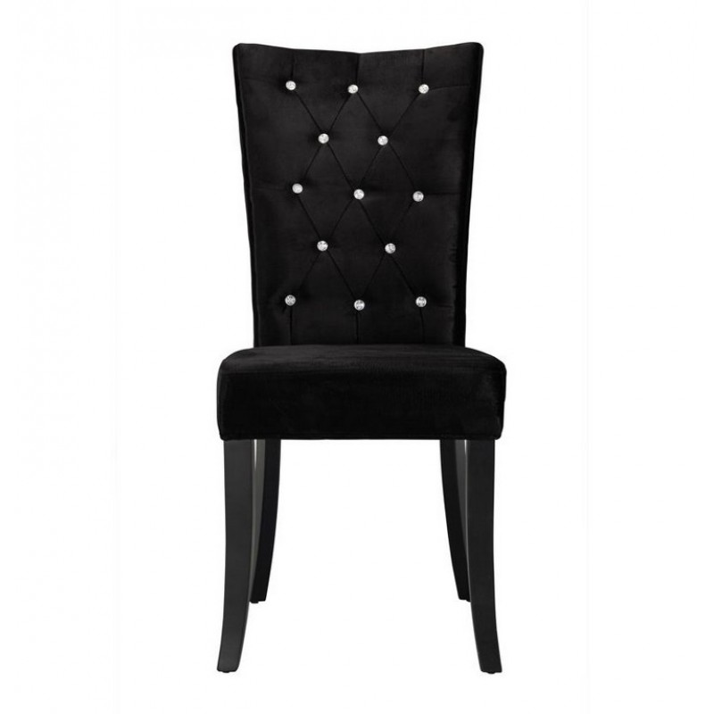 Radiance Set of 2 Diamante Dining Chair In Black Velvet Fabric : radiance dining chair black fabric main 800x800 from www.supersaveuk.com size 800 x 800 jpeg 34kB