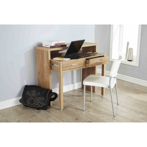 Modern Design Regis Extending Console Table in Oak