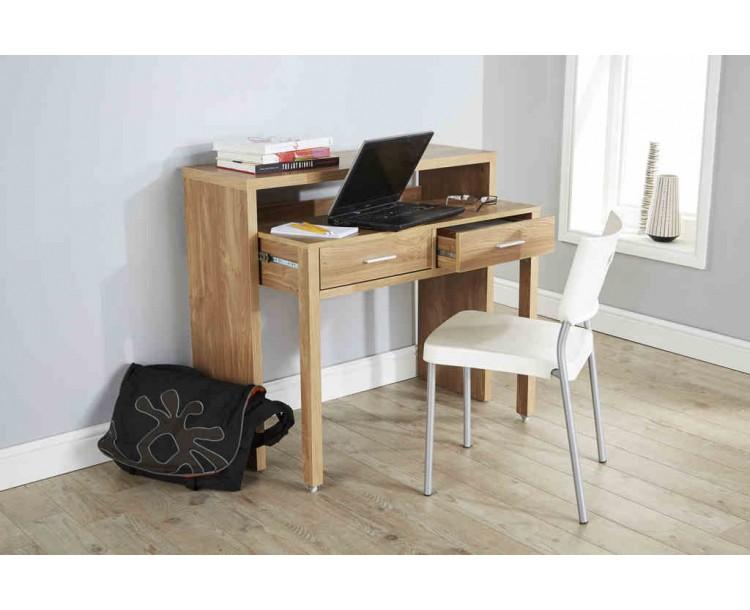Modern Design Regis Extending Console Table in Oak
