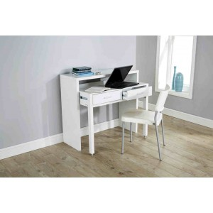 Modern Design Regis Extending Console Table in White