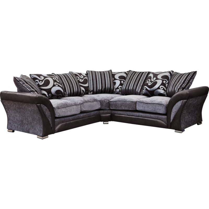 Dfs Corner Sofa Reviews: Black And Silver Sofa Dfs Mylo Leather Fabric Curve Sofa