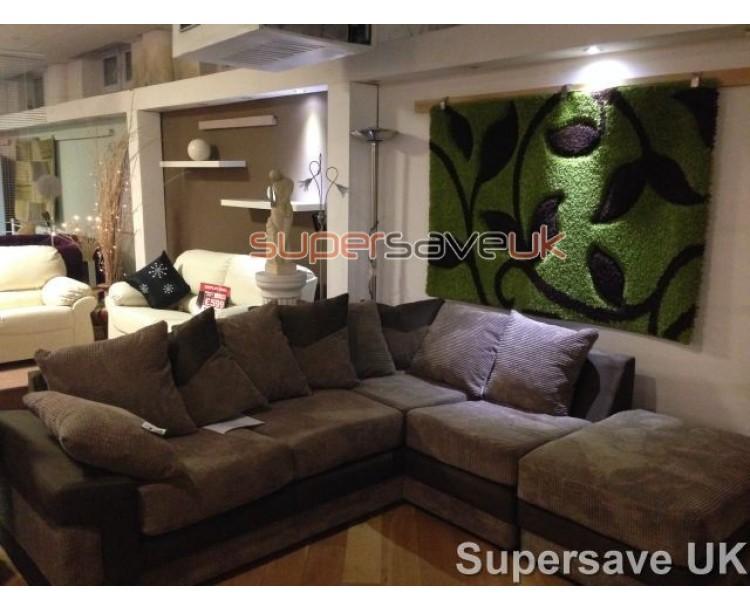 Texas Brown Fabric Corner Sofa